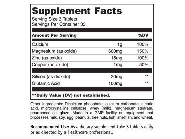 Calcium Zinc Magnesium 100 tabs