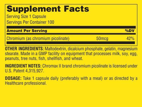 Chromium Picolinate 100 caps
