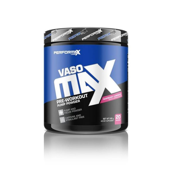 VasoMax Pre-Workout  20 servings Raspberry Lemonade  Performax Labs