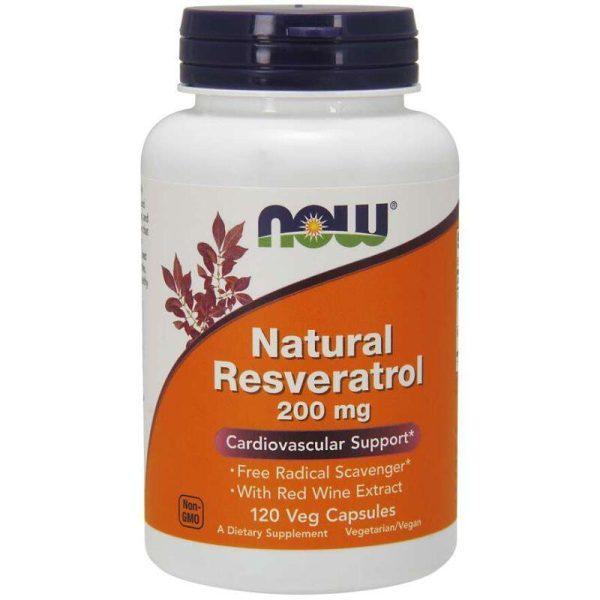 Natural Resveratrol 200, 120 Vcaps