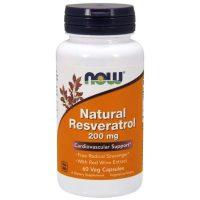 Natural Resveratrol 200, 60 Vcaps