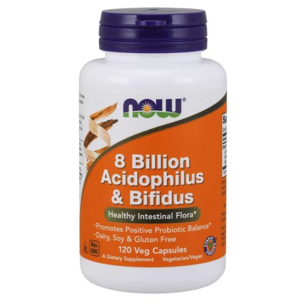 8 Billion Acidophilus & Bifidus, 120 Vcaps