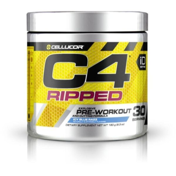 C4 Ripped Pre-Workout, 30 Servings Icy Blue Raspberry