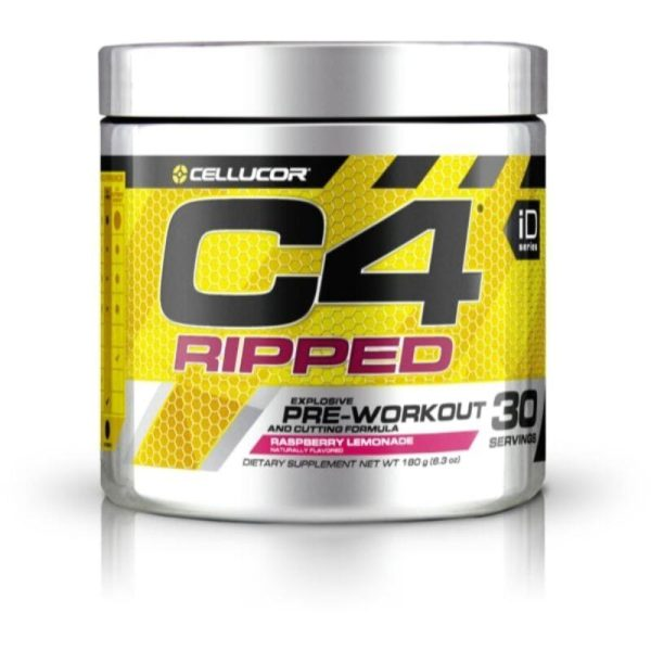 C4 Ripped Pre-Workout, 30 Servings Raspberry Lemonade