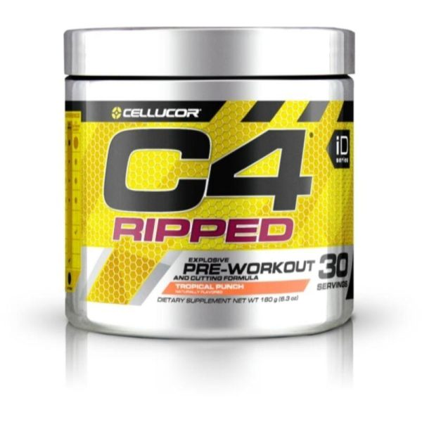 C4 Ripped Pre-Workout, 30 Servings Tropical Punch