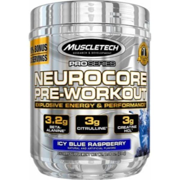 Neurocore Pre-Workout, 50 servings Icy Blue Raspberry