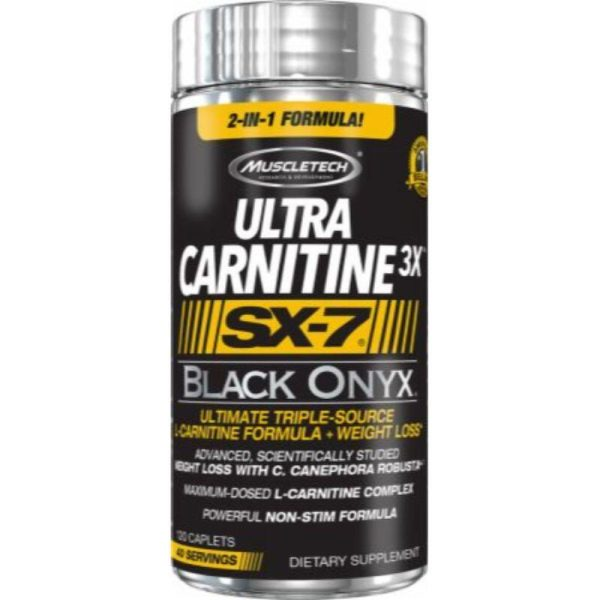 Ultra Carnitine 3x SX7 Black Onyx, 120 Caplets