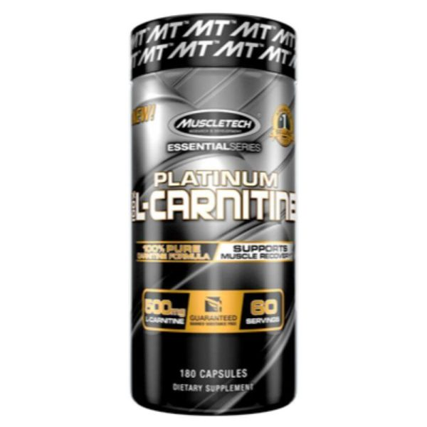 Platinum 100% L-Carnitine, 180 Caps