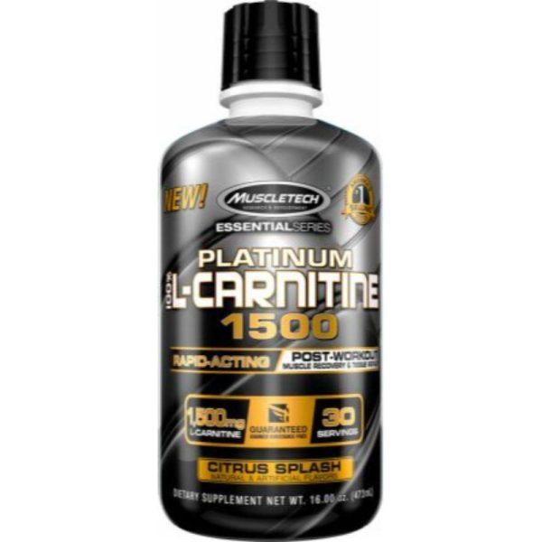 Platinum 100% L-Carnitine 1500, 30 serv Citrus Splash