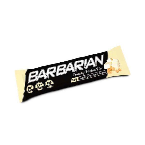Barbarian Bar, 15 bars White Chocolate Peanut