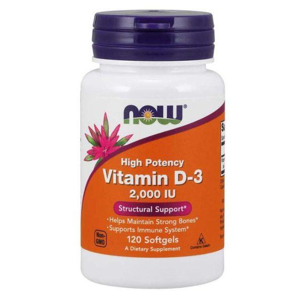 Vitamin D3 2000IU, 120 softgels