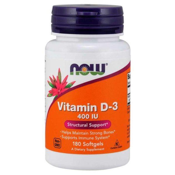 Vitamin D3 400IU, 180 softgels