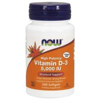Vitamin D3 5000IU, 240 softgels