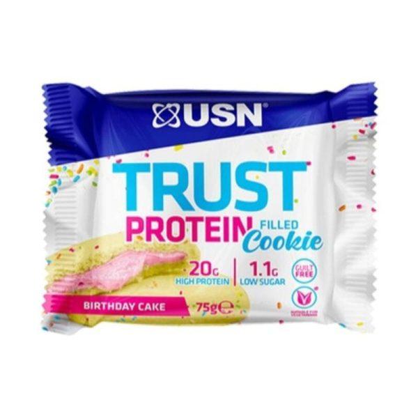Trust Filled Protein Cookie, 12x75 gram Cookies & Cream Birthday Cake