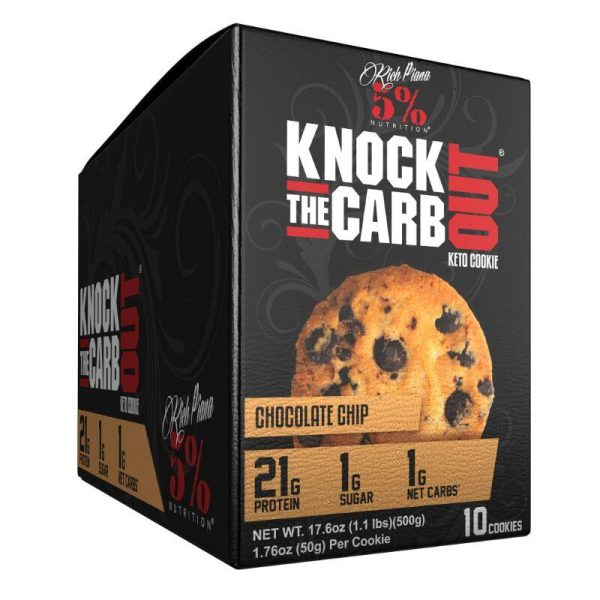 Knock The Carb Out Keto Cookies, 10x50 gram Chocolate Chip Caddie