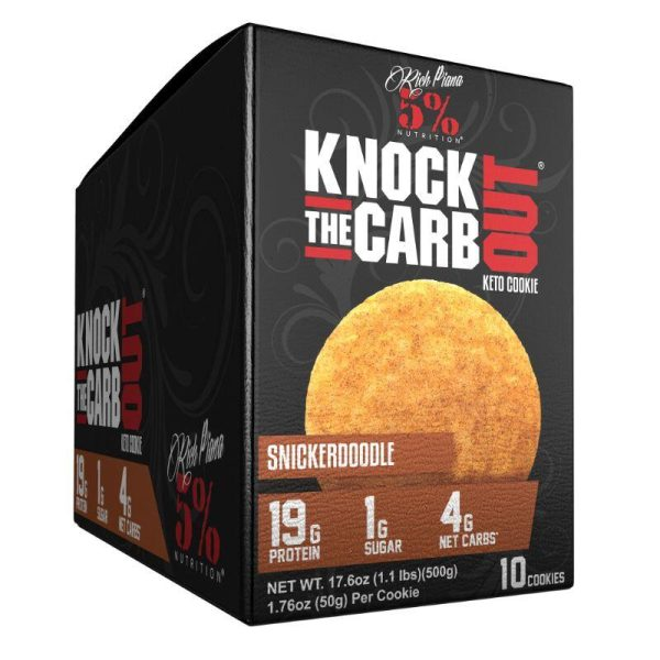 Knock The Carb Out Keto Cookies, 10x50 gram Snicker Doodle