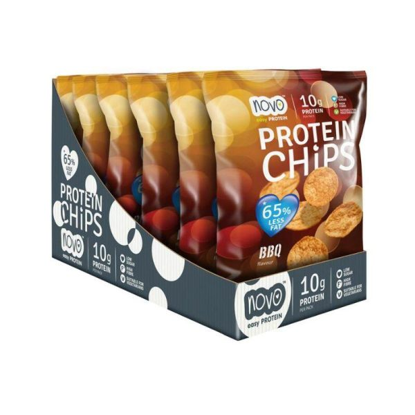 Protein Chips, BBQ Box of 6x 30g bags