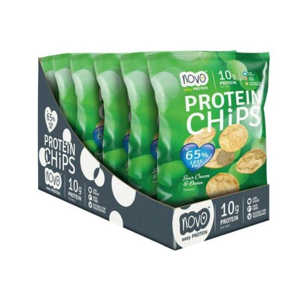 Protein Chips, Sour Cream & Onion Box of 6x 30g bags