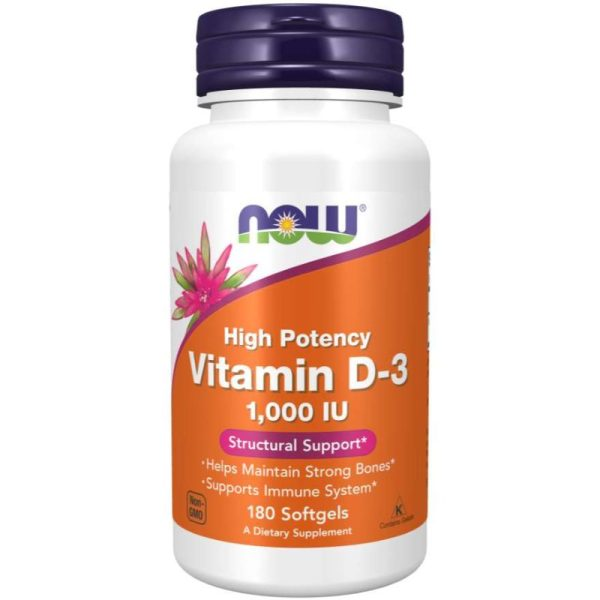 Vitamin D3 1000IU (180 softgels)