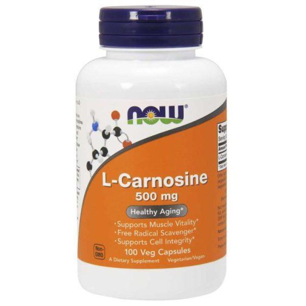 L-Carnosine 500 mg, 100 Vcaps