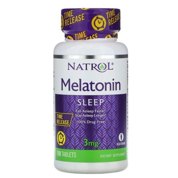 Melatonin Time Released, 3 mg (100 tabs)