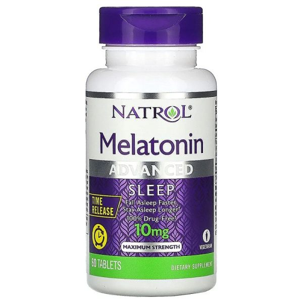Melatonin Advanced Sleep Time Released, 10mg (60 tabs)
