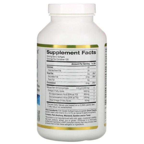 Omega-3 Premium Fish Oil (240 softgels) ingrediënten