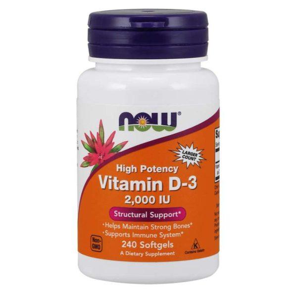 Vitamin D3 2000IU, 240 softgels