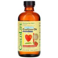 Cod Liver Oil Natural Strawberry Flavor (237 ml)