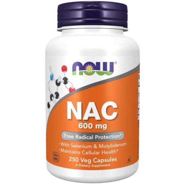 NAC with Selenium & Molybdenum 600mg (250 Vcaps)