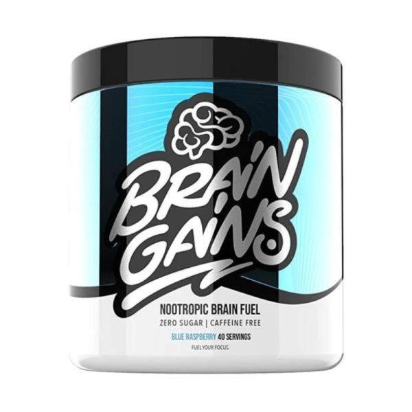 Nootropic Brain Fuel – Cafeïne Free (40 servings) Bleu Raspberry
