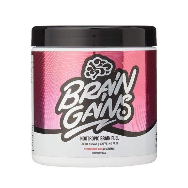 Nootropic Brain Fuel – Cafeïne Free (40 servings) Strawberry Kiwi